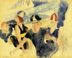 charles demuth original paintings - figures o beach by charles demuth