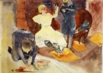 charles demuth original paintings - illustration no. 8 for zola s nana by charles demuth