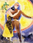 charles demuth original paintings - in vaudeville soldier and girlfriend by charles demuth