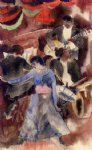negro girl dancer by charles demuth painting