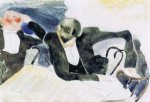 waiters at the brevoort by charles demuth painting