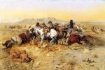 a desperate stand by charles marion russell painting