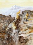 big horn sheep by charles marion russell painting