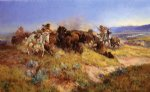 buffalo hunt no.40 by charles marion russell painting