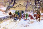 charles marion russell famous paintings - holdup on the boston road by charles marion russell