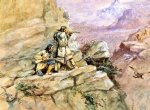 charles marion russell hunting big horn sheep painting