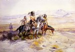 charles marion russell in enemy country painting