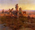 charles marion russell in the wake of the buffalo hunters painting
