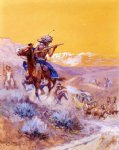 charles marion russell indian attack painting