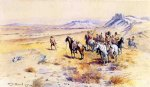 war acrylic paintings - indian war party by charles marion russell
