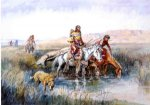 charles marion russell indian women moving camp ii painting