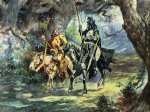 charles marion russell knight and jester painting
