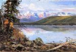 lake mcdonald by charles marion russell art
