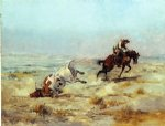 charles marion russell original paintings - lassoing a steer by charles marion russell