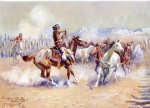 horse acrylic paintings - navajo wild horse hunters by charles marion russell