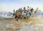 charles marion russell start of roundup painting