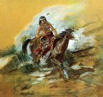the crow scout by charles marion russell painting