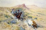 the herd quitter by charles marion russell painting