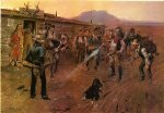 charles marion russell famous paintings - the tenderfoot by charles marion russell