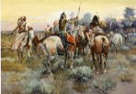 charles marion russell famous paintings - the truce by charles marion russell