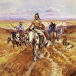 when the plains were his by charles marion russell painting