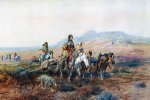 when the trail was long between camps by charles marion russell painting