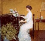childe hassam art - at the piano by childe hassam