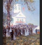 childe hassam art - county fair new england by childe hassam