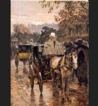 childe hassam art - fiacre rue bonaparte by childe hassam