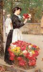 childe hassam art - flower girl by childe hassam