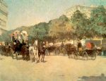 childe hassam art - grand prix day by childe hassam