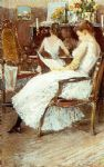 mrs. hassam and her sister by childe hassam painting