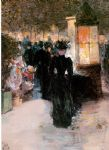 paris nocturne by childe hassam painting