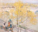 pont royal paris by childe hassam painting