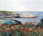 poppies isles of shoals by childe hassam painting