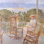 ten pound island by childe hassam painting