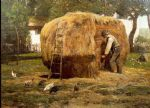 the barnyard by childe hassam painting