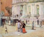 the manhattan club by childe hassam painting