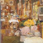the room of flowers by childe hassam painting
