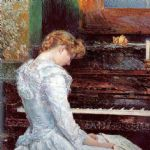 the sonata by childe hassam painting