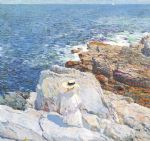 the south ledges appledore by childe hassam painting