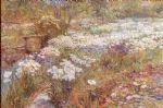 the winter garden by childe hassam painting