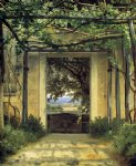 a pergola by christoffer wilhelm eckersberg painting