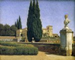 in the gardens of the villa albani by christoffer wilhelm eckersberg prints