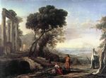 italian artwork - italian coastal landscape by claude lorrain