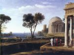 claude lorrain landscape with aeneas at delos art