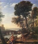 claude lorrain landscape with apollo guarding the herds of admetus art
