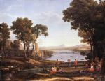 landscape with dancing figures by claude lorrain acrylic paintings