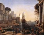 ulysses returns chryseis to her father by claude lorrain acrylic paintings