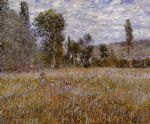 a meadow by claude monet paintings
